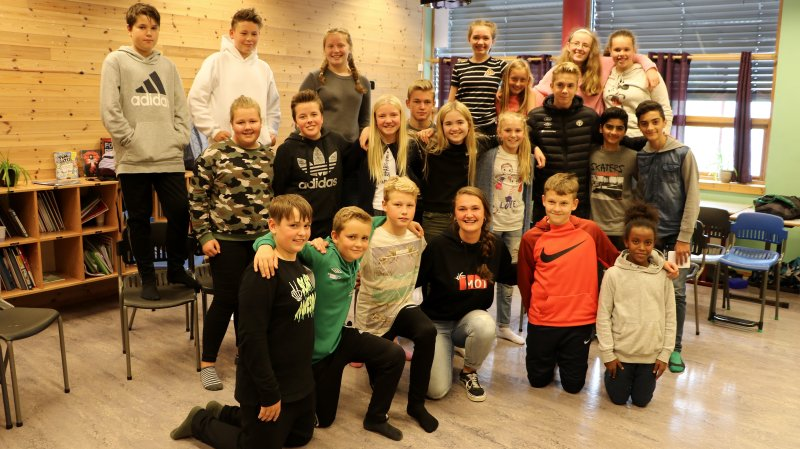 8. klasse på Kaupanger Skule