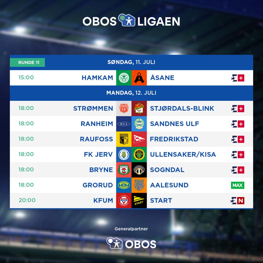 OBOS-ligaen - 2021 - Rundeoppsett - Runde 11.png