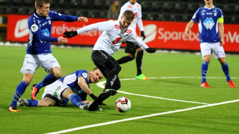 Andreas Lerheim Olsen skåra eit flott mål.